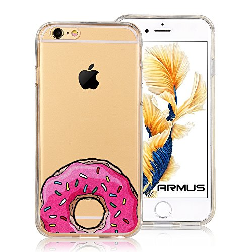 iPhone 6s Plus Case [Cartoon Pattern] ARMUS Premium Quality 3D Print Transparent Hard PC Back Cover + Shock Absorbing Soft Bumper Protective Case for 5.5 inches iPhone 6/6s Plus (Sunday's Dessert 6+)