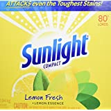 Sunlight Lemon Fresh Powder Laundry Detergent, 80 Wash Loads 2.94-Kilograms