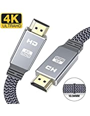 4K HDMI cable 2m-Snowkids flat hdmi to hdmi lead/cord