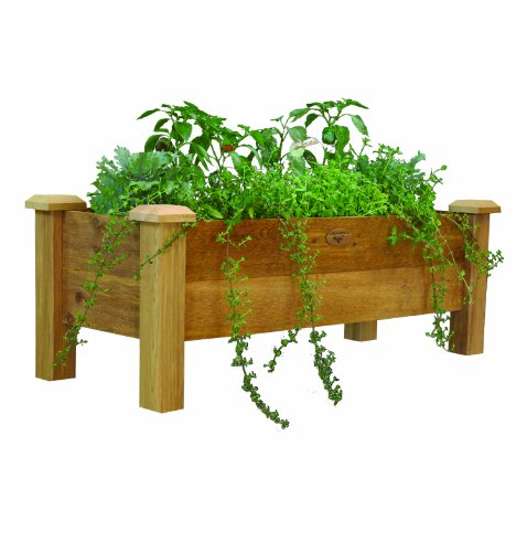 (Gronomics RPB 18 - 48 18-Inch by 48-Inch by 19-Inch Rustic Planter Box, Unfinished)