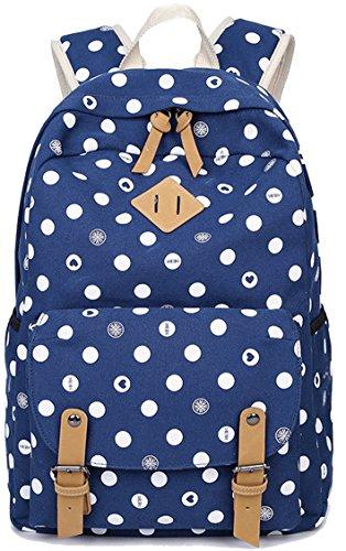 Ghlee - Bolso mochila de Lona para mujer Pit Blue
