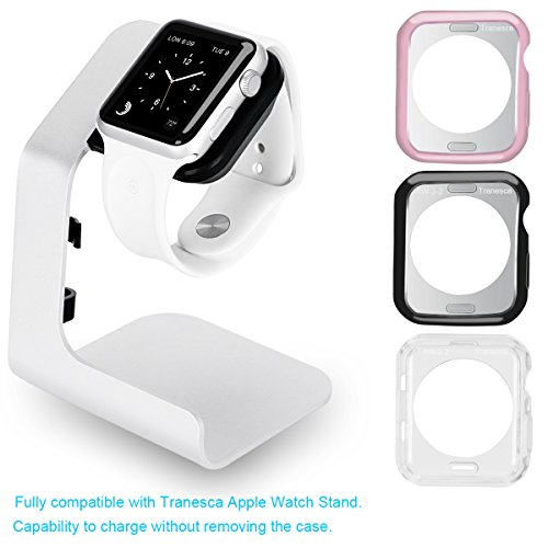 Apple Combo (Tranesca Apple watch stand with Apple watch bumper combo ( one stand + three bumpers) for 38mm Apple Watch 2 ONLY)