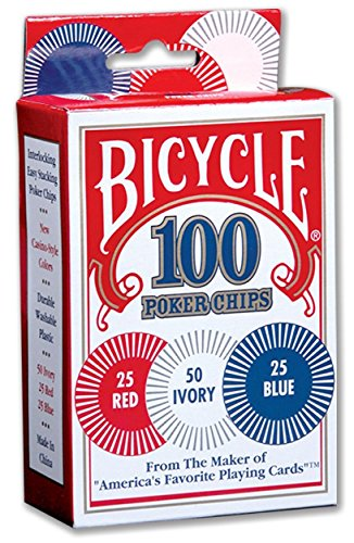 (Bicycle Poker Chips - 100 count with 3 colors)