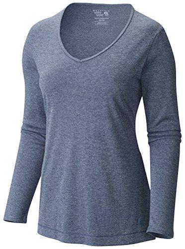 Mountain Hardwear Wicked Printed Long Sleeve T - Women's Heather Zinc ()