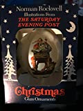"Norman Rockwell Saturday Evening Post ""Merry Christmas"" Glass Ornament"