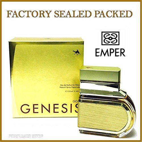 Genesis Gold By Emper Edp for Women 3.4 Oz ''New in Sealed Box'' by EMPER ()