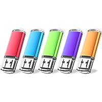 JUANWE 5 Pack 32GB USB Flash Drive USB 2.0 Thumb Drives...