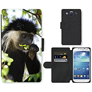 Super Stella Cell Phone Card Slot PU Leather Wallet Case // M00107972 Colobus Monkey Coat Monkey Africa // Samsung Galaxy S3 S III SIII i9300