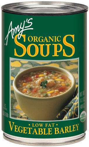 Amy's Organic Soups, Low Fat Vegetable Barley, 14.1 Ounce (Pack of (Vegetable Fat)