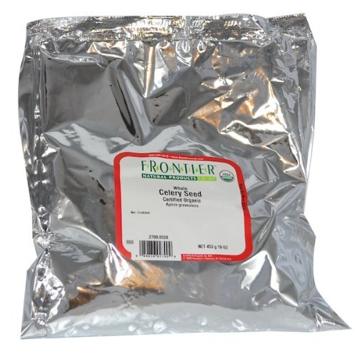 Frontier Bulk Celery Seed Whole ORGANIC 1 lb. package - 3PC by Frontier