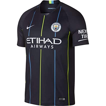 4bc6b328ac9 NIKE 2018-2019 Youth Manchester City FC Away Stadium Jersey (Dark Obsidian)  (