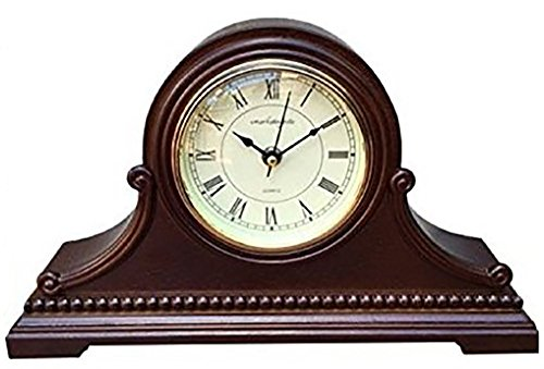 Vmarketingsite Mantel Clocks Wood Mantel Clock with Westminster Chime. This Solid Wood Decorative Chiming Mantel Clock Is Battery Operated. Quiet, Shelf Mantel Clock Westminster Chimes On The ()