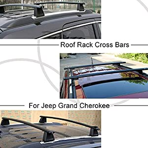 Exceptional Mophorn Roof Rack Cross Bars With Lock Fit For Jeep Grand Cherokee 2011    2017 Aluminium Roof Rail Crossbars OE 82212072AC Luggage Cargo Ladder Bike  Load ...