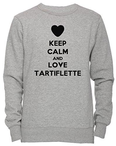 Erido Keep Calm and Love Tartiflette Unisex Men's Women's Jumper Sweatshirt Pullover Grey X-Large Size XL