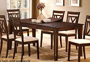 Dining Table with Butterfly Leaf - Cappuccino Finish