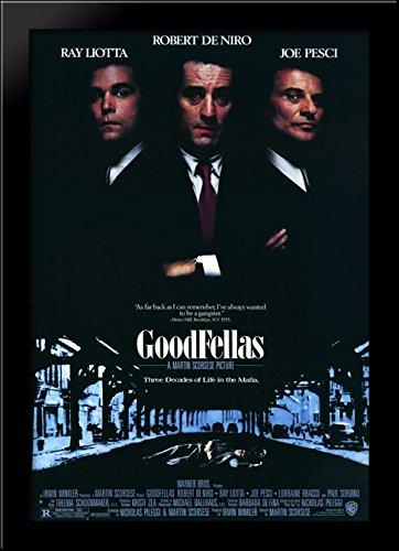 Goodfellas 28x40 Large Black Wood Framed Print Movie Poster