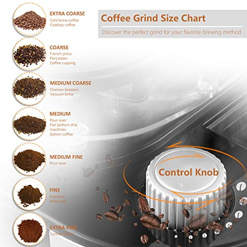 Grind & Brew Automatic Coffeemaker Barsetto Digital Programmalbe Drip Coffee Machine Brewer for Kitchen and Office by Barsetto (Image #4)