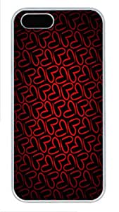iPhone 5S Cases & Covers -Minimalistic pattern red love Custom PC Hard Case Cover for iPhone 5/5S ¨C White