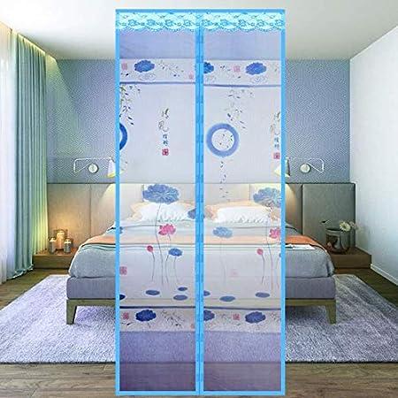 Velcro anti-mosquitos cortina de verano de gama alta puerta de pantalla magnética pantalla de cifrado puerta hogar dormitorio partición cortina puerta de malla A2 W90xH210