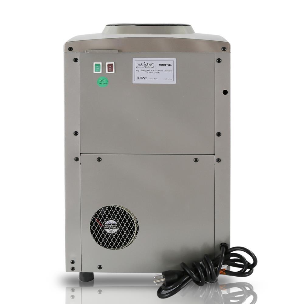 Safe Hot Water : Nutrichef countertop water cooler dispenser hot cold