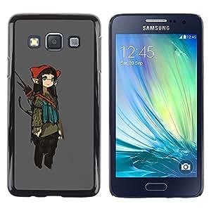 Be Good Phone Accessory // Dura Cáscara cubierta Protectora Caso Carcasa Funda de Protección para Samsung Galaxy A3 SM-A300 // Girl Fairy Anime Ears Long Art Japanese