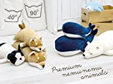 "Livheart Premium Nemu Nemu Sleepy Head Animals Body Pillow Blue Plush Whale 'Kanaloa' Size L (24""x13""x8"") Japan Import 48768-63 Huggable Super Soft Stuffed Toy"