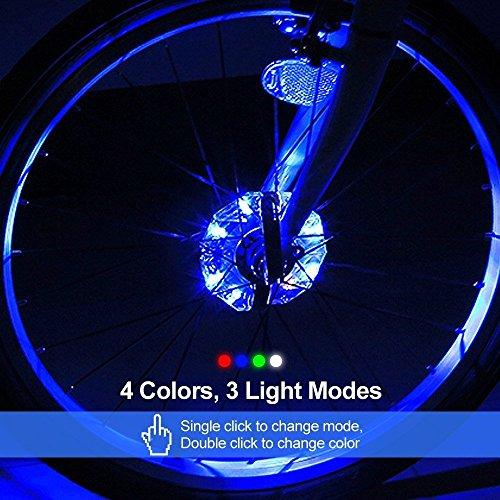 Fahrrad Rad Hub LEDs Licht,Fahrrad Rad LED Speichen Licht Lampe ...