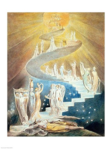 Jacob's Ladder by William Blake Art Print, 21 x 28 inches