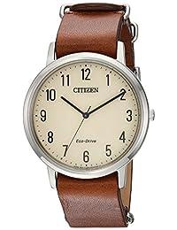 Citizen Men's BJ6500-21A Eco-Drive Analog Display Japanese Quartz Brown Watch
