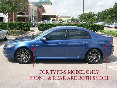 Amazon Com Depo Switchback Led 04 08 Acura Tl Type S Style Smoke 4 Pieces Side Marker Lights Automotive