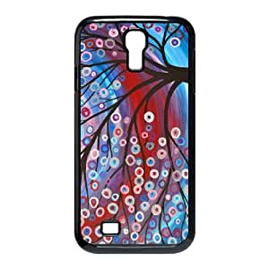 Samsung Galaxy S4 9500 Cell Phone Case Covers Black abstract Painting FDP