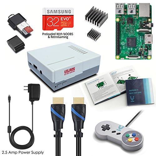 Vilros Raspberry Pi 3 RetroPie Arcade Gaming Kit with Classic USB Gamepad by Vilros Kits