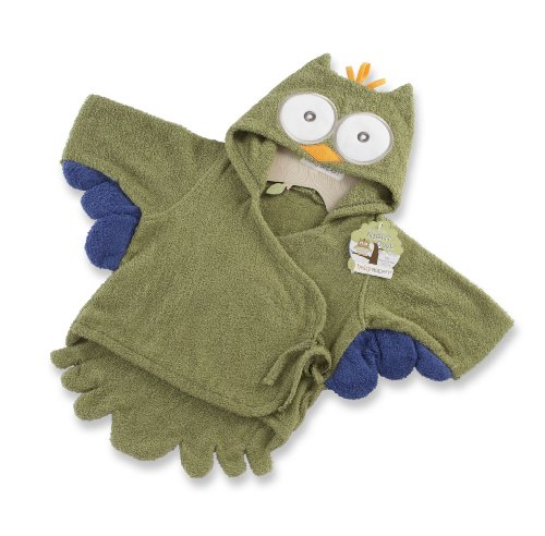 Baby Aspen, My Little Night Owl Hooded Terry Spa Robe, (Father Christmas Robe)
