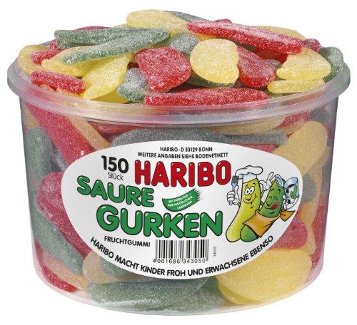 Haribo Saure Gurken (Sour Pickles ) Tub -150 pcs