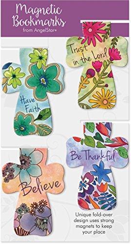 (AngelStar Floral Cross Magnetic Bookmark)