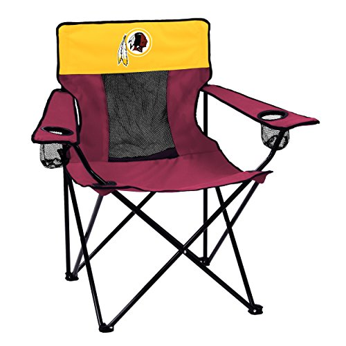 Logo Brands NFL Washington RedskinsFolding Elite Chair with Mesh Back and Carry Bag ,  Maroon,  One Size