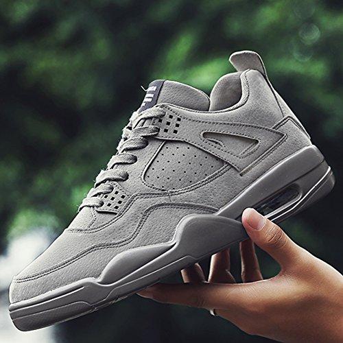 Männer Straße Laufschuhe Leichte Luftpolster Trail Running Sportschuhe Outdoor Fashion Sneakers Schuh Grau