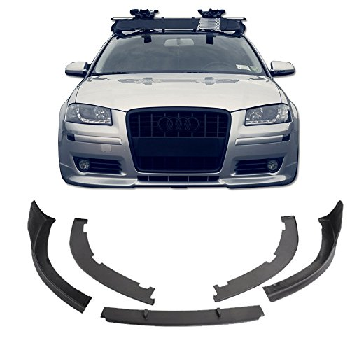 06-09 Audi A3 Poly-Urethane Vortex Style Add-On Front Bumper Lip Spoiler Bodykit