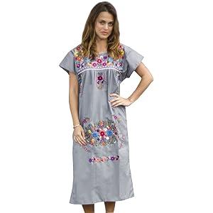 f604b03bee1 Amazon.com  Liliana Cruz Embroidered Mexican Youth Girls Dress (0 ...
