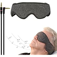 ACOTOP Sleep Headphones Eye Mask with Ultra Thin Speakers, Perfect for Sleep Noise Canceling Headphones, Air Travel, Meditation and Relaxation (Dark Grey)