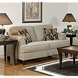 Serta Upholstery 5600LS 5600LS05 Contemporary Style Loveseat, Soprano