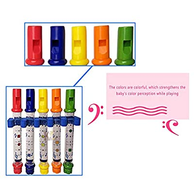 Akin 5pcs Bath Water Flute Toys, Five-Color Water Flute Infant and Toddler Educational Early Childhood Bath Toys, Bathtub Tuning Colorful Toys: Toys & Games