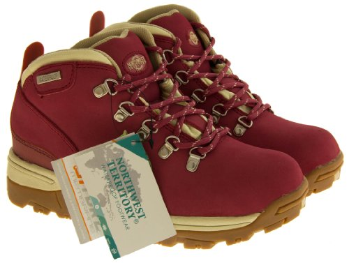 Walking Red Hiking Lace WaterProof Womens NorthWest Up Trek Leather Boots 0wYqz7