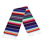 14 x 84 inch Mexican Table Runner for Mexican Party Decorations Wedding Supplies, Cotton Mexican Serape Table Runner