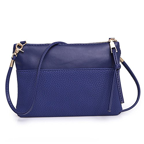 Liraly Women Bags Women Messenger Bags Slim Crossbody Shoulder Bags Handbag Small Body Bags Crossbody Shoulder Bags Mobile Phone Package (Blue) ()