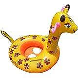 UClever Bateau Gonflable Bébé Flotteur Girafe Enfant Bouée Siège avec Poignée Antidérapante Jeu de Plein Air Plage Nage Floating Toy