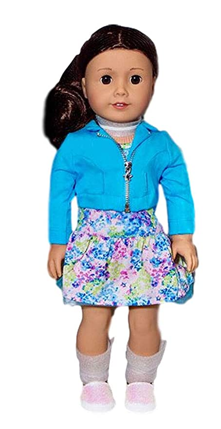 American Girl 2017 Truly Me Doll Brown Eyes Curly Dark Brown Hair Light Skin Tone Dn69