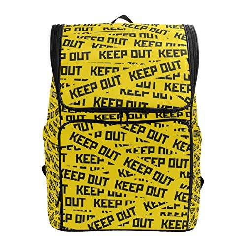 BaLin Laptop Backpack with Keep Out Caution Tape Print, Travel Business Large Computer Backpack College School Daypack