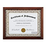 RPJC 8.5x11 Document Frame/Certificate Frames Made of Solid Wood High Definition Glass and Display Certificates, Standard Paper Frame Brown