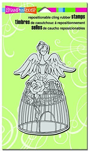 Stampendous Stampendous Cling Stamp 7.75-inch x 4.5-inch Angel Aviary, Acrylic, Multicolour by Stampendous by STAMPENDOUS